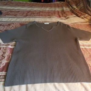 White Stag Woman Olive Green Top 18W-20W